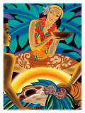 The Hawaiian Luau  Menu Cover  c 1930s