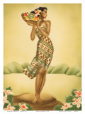 Tropical Harvest  Hawaiian Woman with Fruit  c1930s