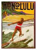 Surfing  Tourist Booklet  Honolulu  Hawaii  c1918
