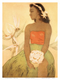 Hula Dancer  Royal Hawaiian Hotel Menu Cover c1950s