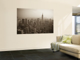 Manhattan Skyline Including Empire State Building  New York City  USA