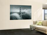 Golden Gate Bridge with Mist and Fog  San Francisco  California  USA