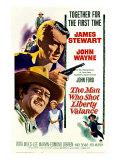 The Man Who Shot Liberty Valance  James Stewart  John Wayne  Vera Miles  1962