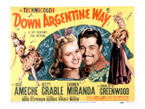 Down Argentine Way  Betty Grable  Don Ameche  Carmen Miranda  1940