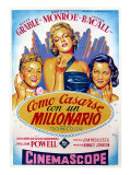 How to Marry a Millionaire  Betty Grable  Marilyn Monroe  Lauren Bacall  1953