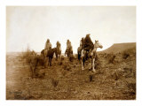 Apaches Desert Rovers- Five Apache on Horseback in Desert  1903