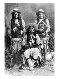 Wild West  Das-Luca  Skro-Kit  Shus-El-Day  White Mountain Apaches Posed with Rifles  1909