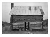African American Sharecropper House with Child on Steps  North Carolina  July 1939