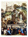 Lourdes  France  Pilgrims at the Shrine of Our Lady of Lourdes  1890s
