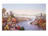 The Niagara Falls Suspension Bridge  1856