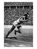 Jesse Owens Setting the 200 Meter Olympic Record at the Olympics in Berlin  Germany  1936