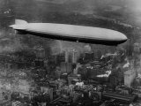 The LZ 129 Graf Zeppelin  over Philadelphia  Pennsylvania  October 16  1928