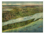 1915 Aerial View of West Palm Beach  North Palm Beach and Lake Worth  Florida