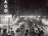 Night Scene of Chicago State Street  c1953