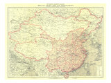 1912 China and Its Territories Map