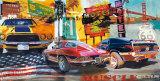 Muscle cars, voitures puissantes Reproduction d'art par Ray Foster