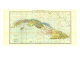 1906 Cuba Map Reproduction d'art par National Geographic Maps