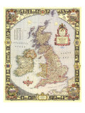 1949 British Isles Map Reproduction d'art par National Geographic Maps
