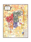 1996 Jerusalem, the Old City Map Reproduction d'art par National Geographic Maps