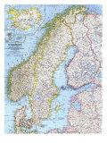 1963 Scandinavia Map