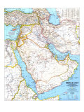 1991 Middle East Map