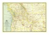 1941 Northwestern United States and Canadian Provinces Map