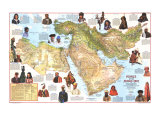 1972 Peoples of the Middle East Map