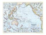 1952 Pacific Ocean Map