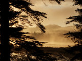 Morning fog rises over Control Lake on Prince of Wales Island
