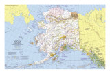 1975 Close-up USA  Alaska Map