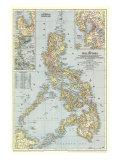 1945 Philippines Map Reproduction d'art par National Geographic Maps