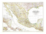 1953 Mexico and Central America Map
