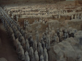 The terra-cotta army gradually being unearthed