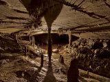 Iron Hoop cave chamber with an accumulation of mineral deposits