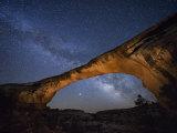 A starry night gleams above Owachomo Bridge