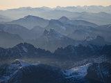 Aerial images over glacier  Waterton-Glacier International Peace Park