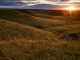Sunset over the Kansas prairie