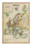 Europe, c.1820 Reproduction d'art par John Melish