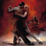 Tango argentin II Reproduction d'art par Willem Haenraets
