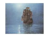 Croissant de lune Giclée premium par Montague Dawson
