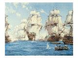 La bataille de Trafalgar Giclée premium par Montague Dawson