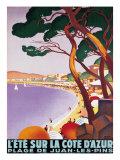 L'été sur la Côte d'Azur Giclée premium par Roger Broders