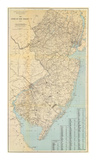 The State of New Jersey, c.1878 Reproduction d'art