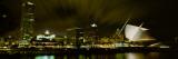 City Skyline with Milwaukee Art Museum at Night  Milwaukee  Wisconsin  USA