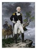American General John Stark Overlooking a Battlefield