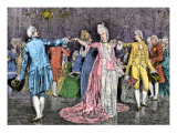 Couples Dancing the Minuet in an 18th-Century Ballroom