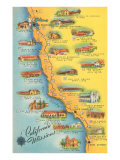Map of the Missions  California