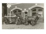 Horse-Drawn Fire Engine