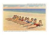 Bathing Beauties on Miami Beach  Florida