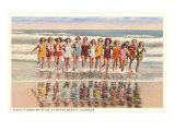 Ladies in Surf  Miami Beach  Florida
